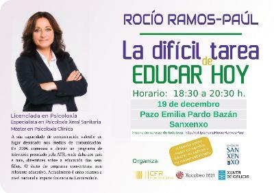 CHARLA DE ROCÍO RAMOS-PAÚL EN EL PAZO EMILIA PARDO BAZÁN.